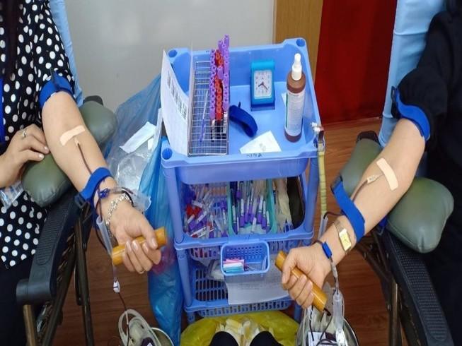 Công đoàn viên Sở Tư pháp TP.HCM hiến máu tình nguyện