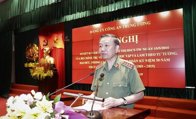 Bộ trưởng Tô Lâm: Ngành công an ra sức thực hiện Di chúc Bác