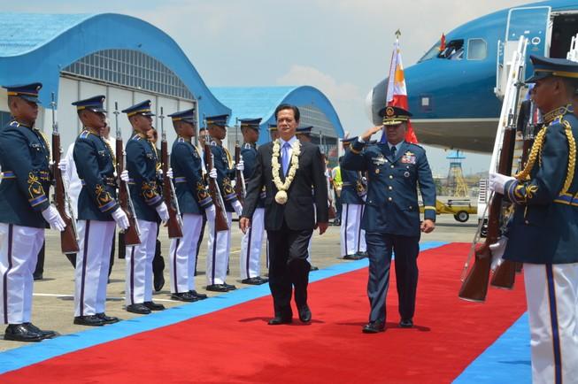 Thủ tướng Nguyễn Tấn Dũng thăm Philippines: Đại diện quân đội, công an cùng tham dự