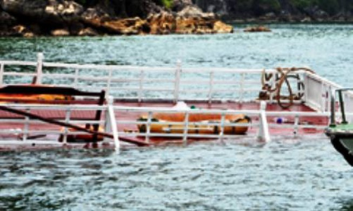 Tàu du lịch chở 48 khách bị đâm chìm tại vịnh Hạ Long