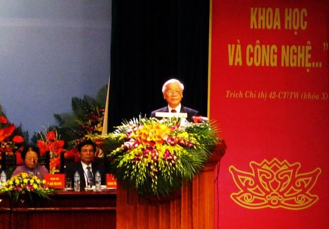 Tổng bí thư Nguyễn Phú Trọng: Đội ngũ trí thức cần tích cực phản biện