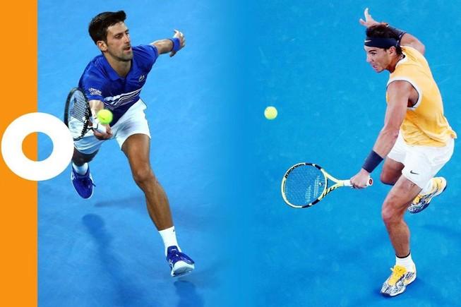 Người hâm mộ quần vợt trông chờ màn song đấu giữa Djokovic và Nadal tại giải quần vợt Úc mở rộng 2021.