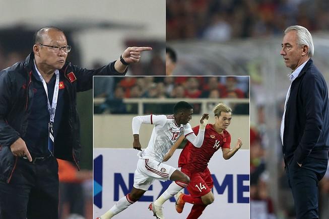 Thầy trò HLV Park Hang-seo đang dẫn đầu bảng G nhưng đối thủ UAE và HLV Van Marwijk đang tìm mọi cách để soán ngôi đầu.