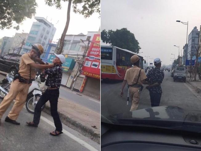 Thanh niên xăm trổ đánh tới tấp CSGT vì bị dừng xe