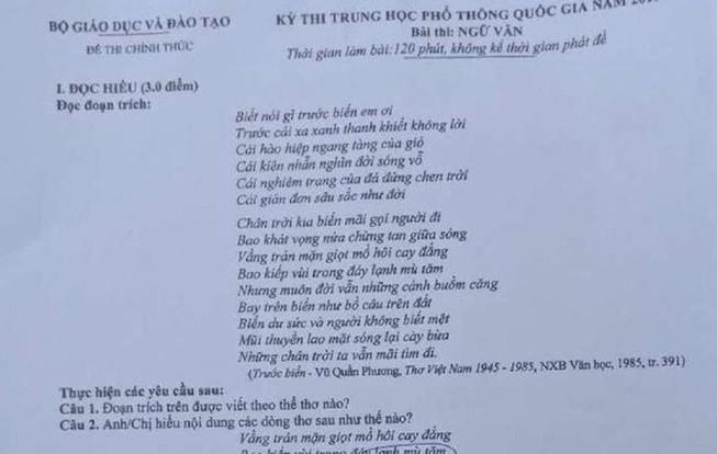 Choáng: Chụp đề thi Ngữ văn gửi ra ngoài để nhờ giải hộ