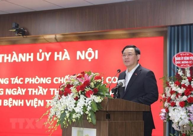 Bí thư Thành ủy Hà Nội Vương Đình Huệ. Ảnh: TTXVN