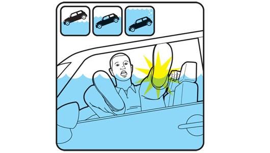 Thoát hiểm khi xe bị rơi xuống nước