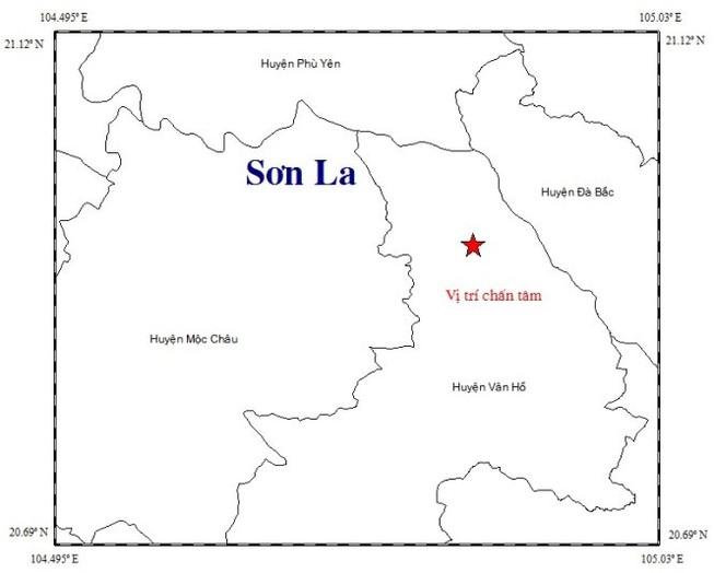 Động đất Sơn La rung chuyển 3,4 độ richter