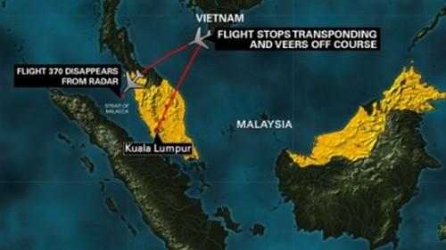 Máy bay mất tích: Malaysia bác tin dò được tín hiệu ở Malacca