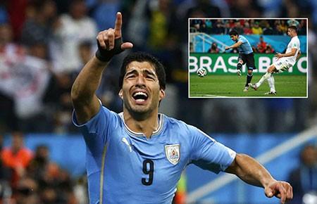 Bảng D: Anh - Uruguay (1-2): Sát thủ Suarez!