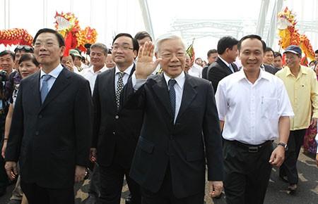 Hà Nội: Thông xe cầu Đông Trù bắc qua sông Đuống