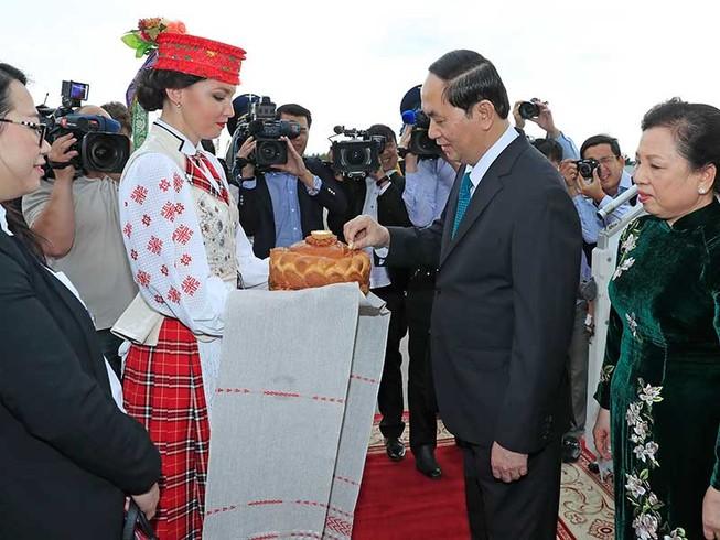Chủ tịch nước Trần Đại Quang sang thăm Belarus