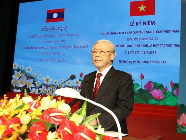 'Hai dân tộc Việt Nam và Lào luôn kề vai sát cánh'