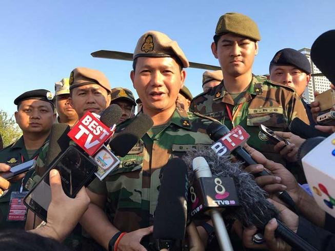 Con trai ông Hun Sen làm tổng tham mưu trưởng quân đội