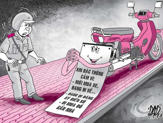 """Biển số xe và """"nỗi phiền"""" của CSGT"""