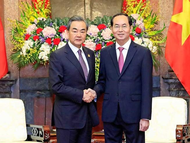 Chủ tịch nước tiếp Bộ trưởng Ngoại giao Trung Quốc