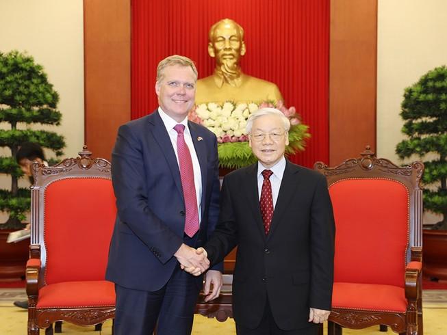 Tổng Bí thư tiếp chủ tịch Hạ viện Australia