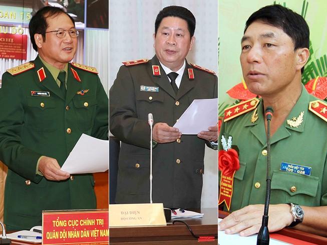 Đề nghị xem xét kỷ luật nhiều tướng công an, quân đội