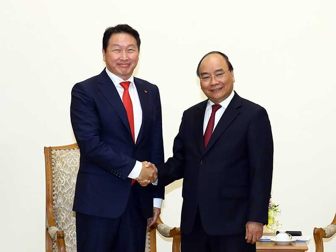 Thủ tướng tiếp chủ tịch tập đoàn lớn của Hàn Quốc