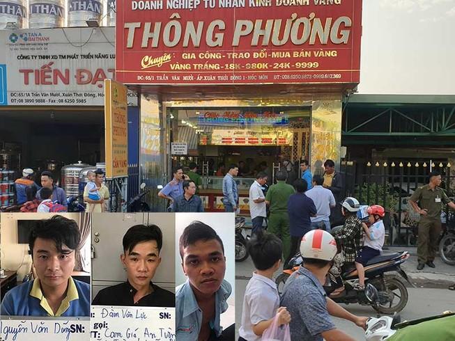Ở Đồng Nai điều khiển cướp tiệm vàng tại Hóc Môn