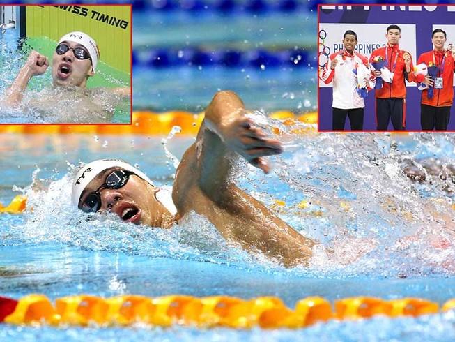 Phá kỷ lục SEA Games, Huy Hoàng 'bơi' thẳng đến Olympic 2020
