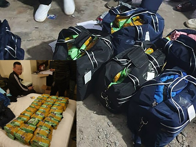 260 kg ma túy trong bãi rửa xe ở Hà Nội
