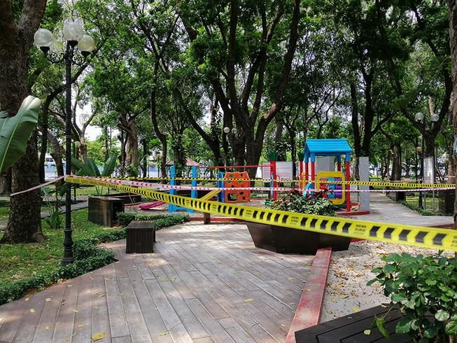 Ngưng hoạt động tập thể ở công viên vì COVID-19