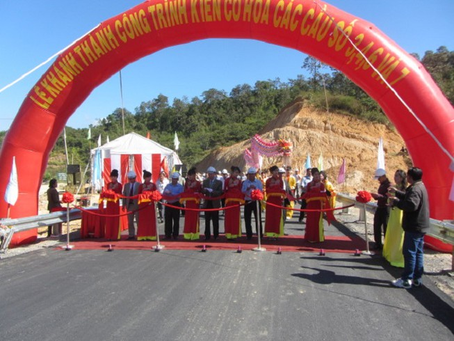 Khánh thành 4 cây cầu ở Lâm Đồng