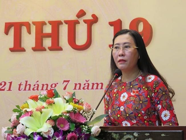 Bà Bùi Thị Quỳnh Vân, Chủ tịch HĐND tỉnh Quảng Ngãi. Ảnh: NH