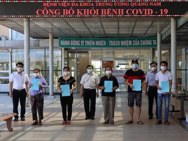 Thêm 19 bệnh nhân nhiễm COVID-19 ở Quảng Nam xuất viện