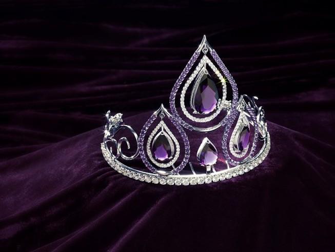 Hình ảnh chiếc vương miện trị giá 1 tỷ đồng của Hoa khôi Áo dài