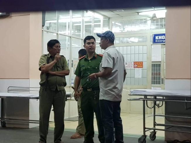 Khoa cấp cứu bệnh viên Trưng Vương đang được phong tỏa. Ảnh: TD