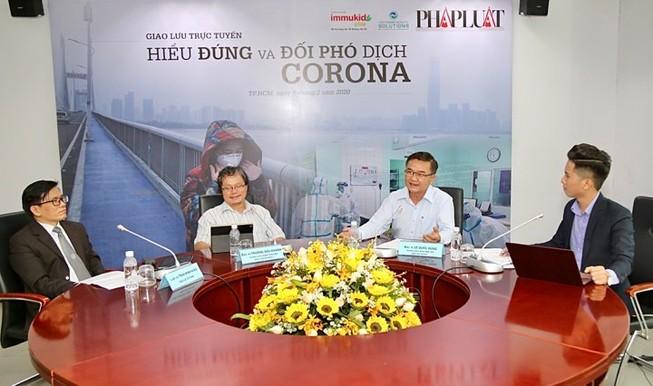 Giao lưu trực tuyến 'Hiểu đúng và đối phó dịch Corona'
