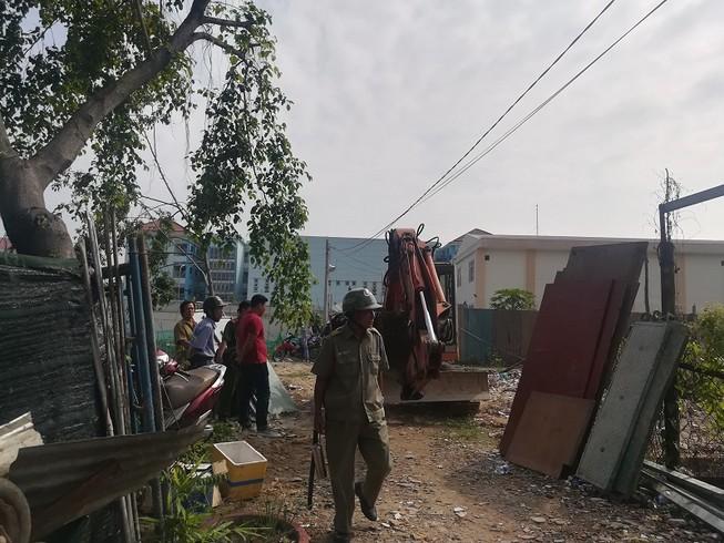 Tháo dỡ 20 công trình không phép ở phường Linh Trung, Thủ Đức