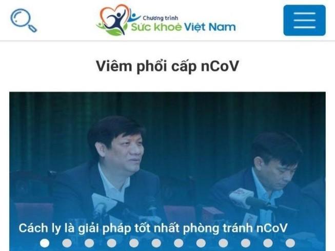Bộ Y tế công bố App Sức khỏe Việt Nam về virus Corona