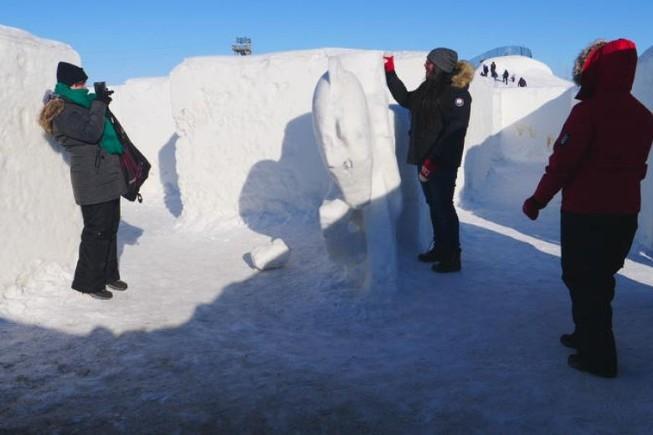 Cận cảnh mê cung tuyết khổng lồ phá kỷ lục thế giới