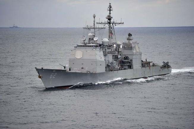 Mỹ điều tàu chiến mang tên lửa dẫn đường qua eo biển Đài Loan