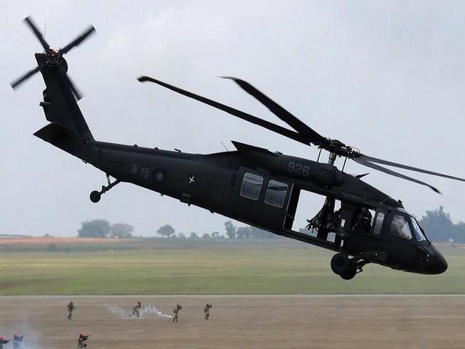 Một chiếc máy bay trực thăng UH-60M tham gia tận trận ở Đài Loan. Ảnh: AFP