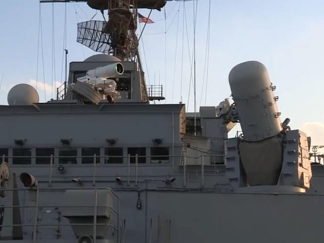 Hệ thống vũ khí laser AN/SEQ-3 của Mỹ-một trong những hệ thống vũ khí laser mạnh mẽ nhất hiện nay. Ảnh: US NAVY