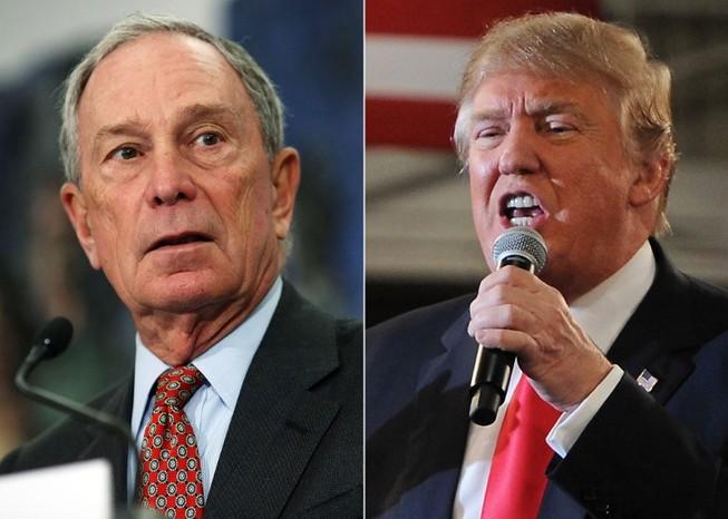 Tỉ phú Michael Bloomberg (trái) và Tổng thống Mỹ Donald Trump. Ảnh: CNBC