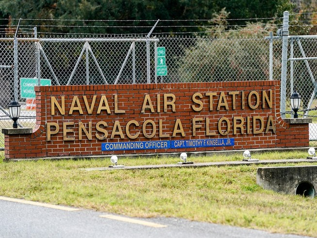 Căn cứ không quân hải quân Pensacola. Ảnh: GETTY IMAGES