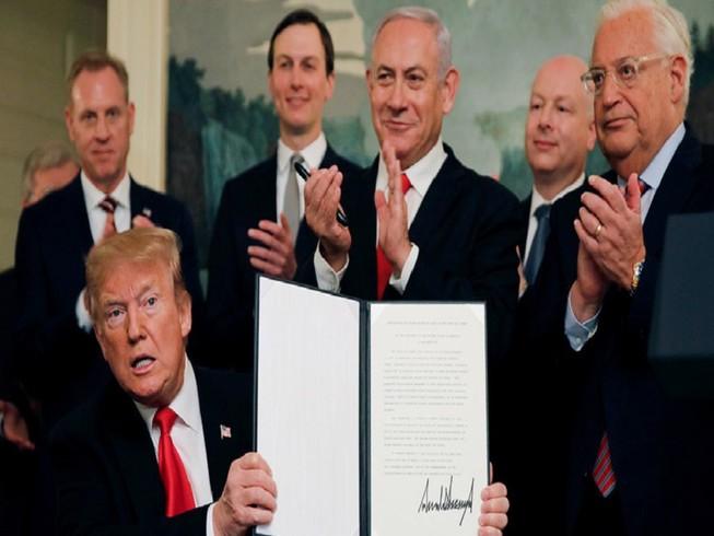 Tổng thống Trump sắp công bố một kế hoạch hòa bình Trung Đông, trong đó có giải quyết căng thẳng giữa Israel-Palestine. Ảnh: REUTERS
