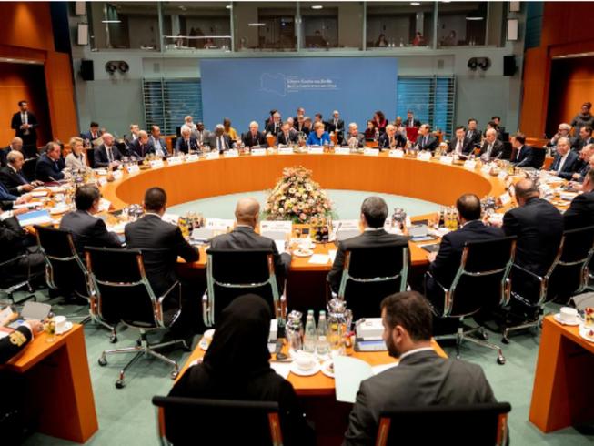 Hội nghị thượng đỉnh Libya tại Berlin (Đức) ngày 19-1. Ảnh: REUTERS