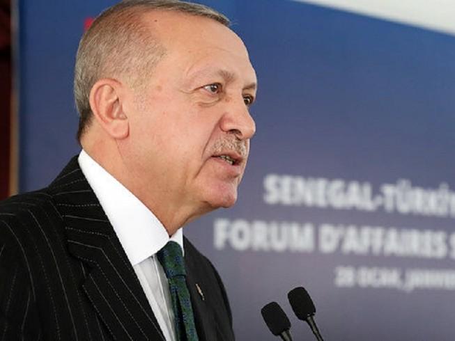 Tổng thống Thổ Nhĩ Kỳ Tayyip Erdogan. Ảnh: NTV