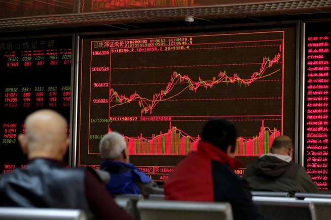 """Hôm nay thị trường Trung Quốc """"bốc hơi"""" 420 tỉ USD do dịch Corona. Ảnh: REUTERS"""