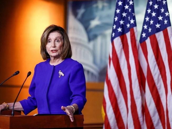 Chủ tịch Hạ viện Mỹ Nancy Pelosi chỉ trích kết quả phiên tòa luận tội Tổng thống Donald Trump ở Thượng viện. Ảnh: REUTERS