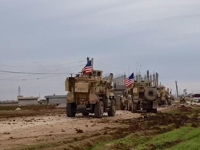 Lực lượng Mỹ tại Syria đụng độ với người Kurd ở gần biên giới Syria-Thổ Nhĩ Kỳ. Ảnh: RT