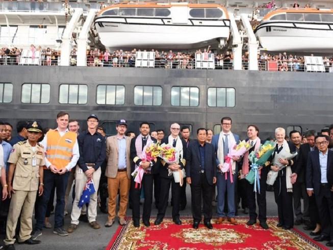 Campuchia được cảm ơn vì đã cho phép du thuyền Westerdam cập cảng Sihanoukville. Ảnh: BỘ NGOẠI GIAO CAMPUCHIA
