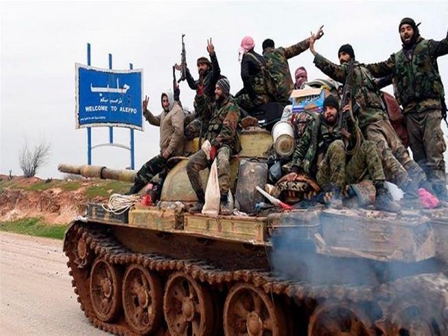 Lực lượng Chính phủ Syria tăng cường tấn công, đầy lực lượng đối lập ra khỏi TP Aleppo. Ảnh: SANA