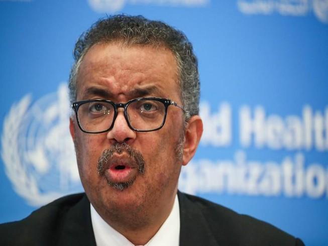 Tổng giám đốc của WHO Tedros Adhanom Ghebreyesus tại một cuộc họp báo về COVID-19 tại TP Geneva, Thụy Sĩ ngày 11-2. Ảnh: REUTERS